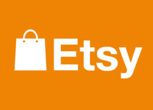logo etsy blanc sur fond orange